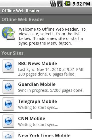 Offline Web Reader