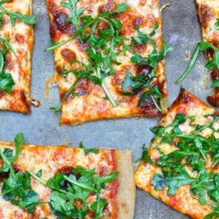 Roasted Red Pepper and Arugula Whole-Wheat Pizza
