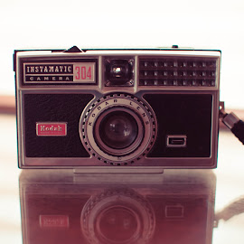 Instamatic by Sara Sawatzki - Artistic Objects Antiques ( reflection, camera, antique camera, antiques )