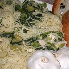 Broccoli Rabe and Chicken Aglio Olio (With Oil and Garlic)