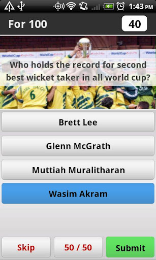 Cricket World Cup Trivia