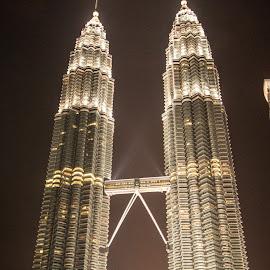 Petronas towers by Surajit Dutta - Buildings & Architecture Office Buildings & Hotels ( office, building, night photography, architecture, portrait, Urban, City, Lifestyle )