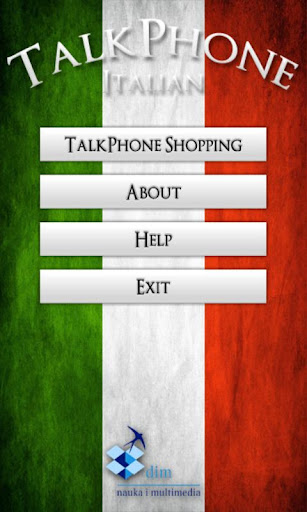TalkPhone Italian Shopping