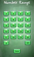 Screenshot of Math Flash Cards (Free)