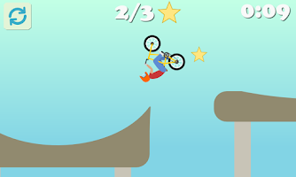 Screenshot of BMX Racing - Hill Climb