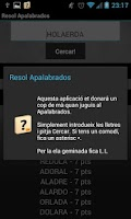 Screenshot of Resol Apalabrados en Català