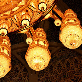 The Grand Chandelier by Dhanika Ranasinghe - Buildings & Architecture Other Exteriors ( chandelier, lighting, muscat, oman, sultan qaboos grand mosque )