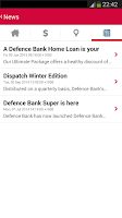 Screenshot of Defence Bank