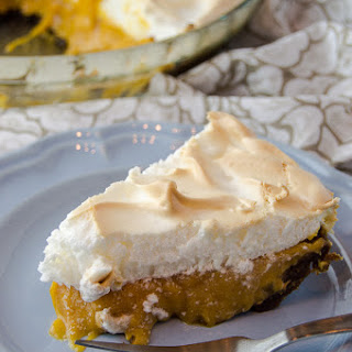 Sweet Potato Caramel Meringue Pie