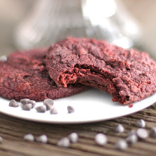 Healthy Red Velvet Gooey Butter Cookies (sugar free, low fat, high protein, gluten free, vegan)