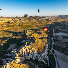 Cappadocia, turkey by Krissanapong Wongsawarng - Landscapes Travel ( nature, travel, turkey, balloon, landscape, cappadocia )