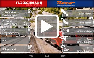 Screenshot of Z21 mobile