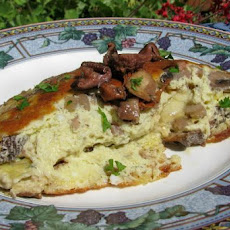 Souffle Omelet With Brie Mushrooms and Onions