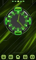 Screenshot of Neon Green Style Clock 2