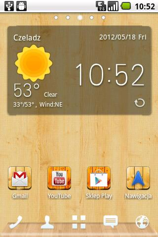Free Wood Theme Go Launcher EX