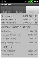 Screenshot of RVG-Rechner