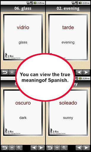【免費教育App】524 Basic Spanish Words-APP點子