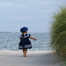 Running on the beach by Jean Petrino - Babies & Children Toddlers ( beach, toddler, sailor.sand )