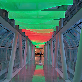 Bridge with lights by Koh Chip Whye - Buildings & Architecture Bridges & Suspended Structures (  )