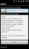Screenshot of BigSMS (Send Long SMS)