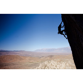 The air up there  by George Bruce Wilson - Sports & Fitness Climbing ( climb, climbing, mountain, fitness, rocky mountains )