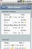 Screenshot of Windsock Forecast
