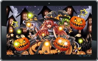 Screenshot of Halloween Anime Live Wallpaper
