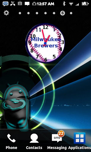 Milwaukee Brewers Clock Widget