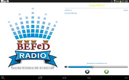 Radio BEFeD - screenshot