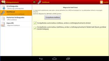 Screenshot of Költségnyilvántartó