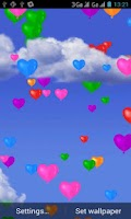 Screenshot of Heart Balloons Live Wallpaper