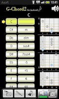 Screenshot of GChord2 (Guitar Chord Finder)