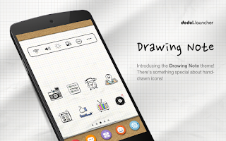 Screenshot of Drawing Note Dodol Theme