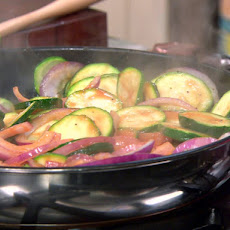 Zucchini and Red Onion Saute