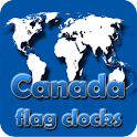 Canada flag clocks