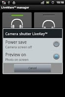 Screenshot of LiveKey™ Camera