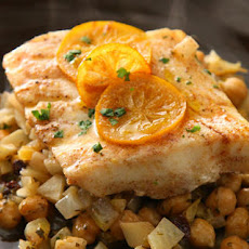Steamed Fish with Chickpeas and Currants Recipe