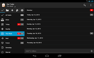 Screenshot of Due Today Tasks & To-do List
