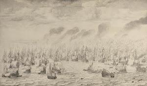 RIJKS: Willem van de Velde (I): The Battle of Terheide 1657
