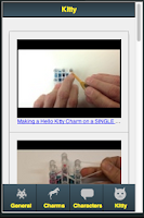 Screenshot of Rainbow Loom Charms