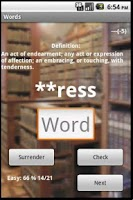 Screenshot of Words free