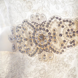 Catie's Dress by Karissa Starcevich - Wedding Getting Ready ( pearl, rhinestones, details, dress, crystal )