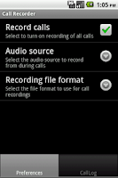 Screenshot of Callrecord