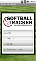 Screenshot of SoftballTracker.com Mobile
