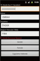 Screenshot of Turkish ID Number Checker