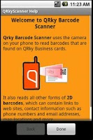 Screenshot of QRky Barcode Scanner