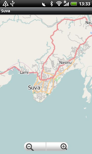 Suva Fiji Street Map