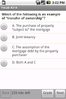 Screenshot of Real Estate Vocabulary Quiz