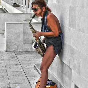 SAX by Zeljko Sajko-Saja - People Musicians & Entertainers ( zabavljači, glazbenik, grad, ulica, object, musical, instrument )