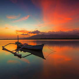 Dark Boat by Budi Astawa - Transportation Boats ( bali, west bali national park, karangsewu, gilimanuk, boat )